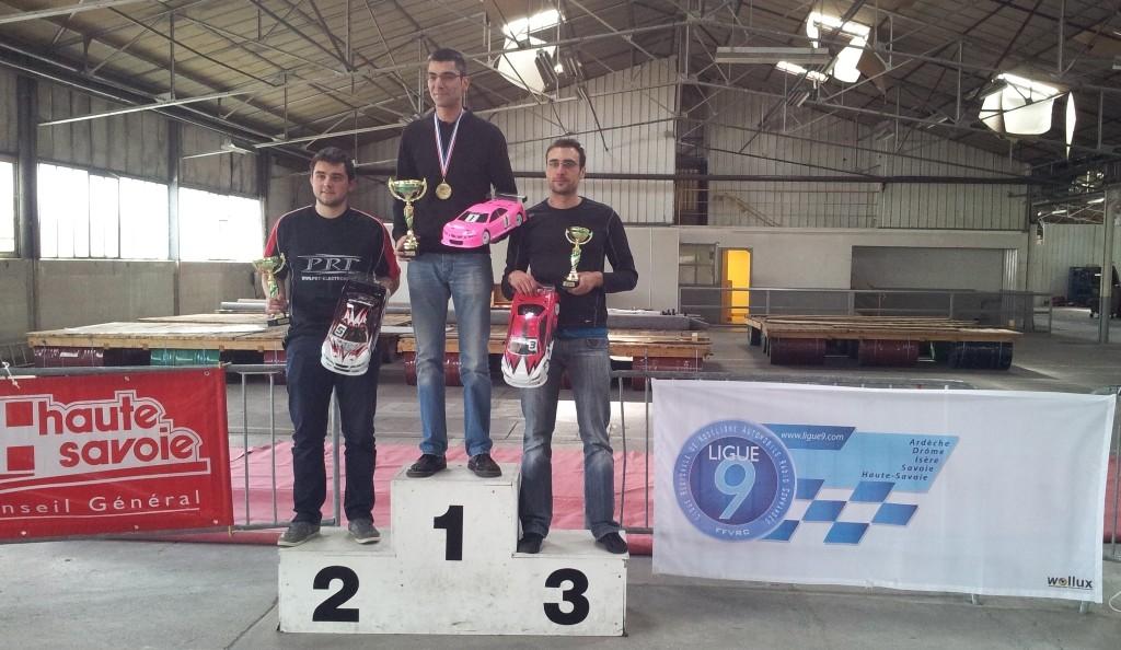 CF rumilly 2012, le podium des stock, avec victoire de Yann GRADELET (AMCR)