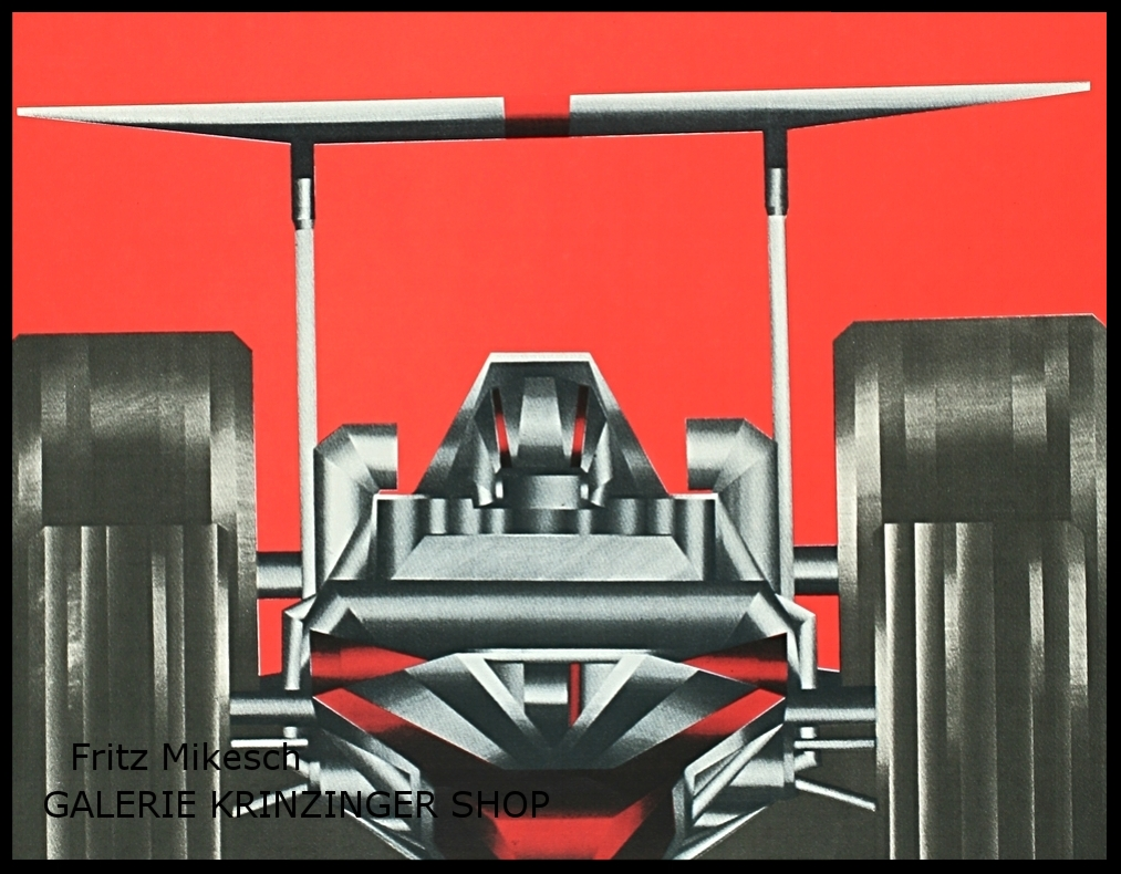 Fritz Mikesch Edition Rennwagen / racing car 1970s graphic