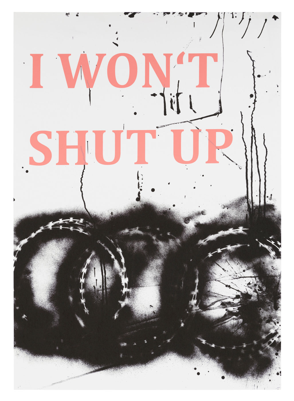 Monica Bonvicini Kunst Edition im online shop. Art print by Monica Bonvicini.  I won't shut up