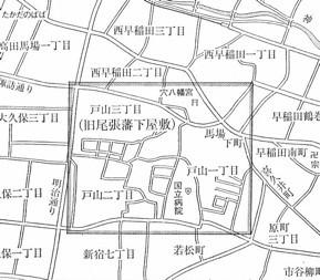 尾張藩下屋敷の所在