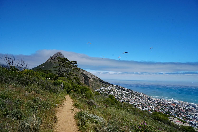 Blick auf den Lions Head vom Signal Hill