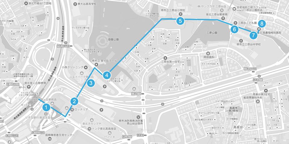大阪府 堺市 耳鼻科 耳鼻咽喉科 しまだ耳鼻咽喉科 しまだ耳鼻科 行き方 アクセス 徒歩