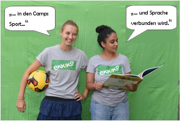 Johanna & Basira (Werkstudentinnen und Campkoordinatorinnen)