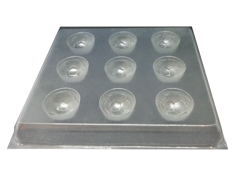 soccer ball chocolate mold  9 cells