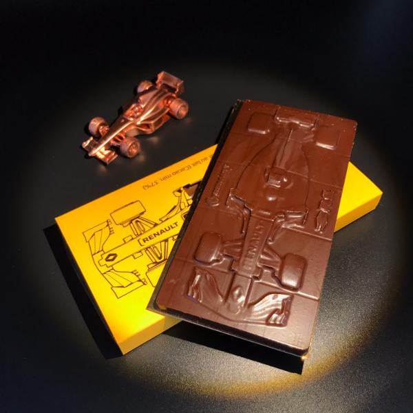 moule de tablette à chocolat  pour l'atelier RENAULT champ élysée