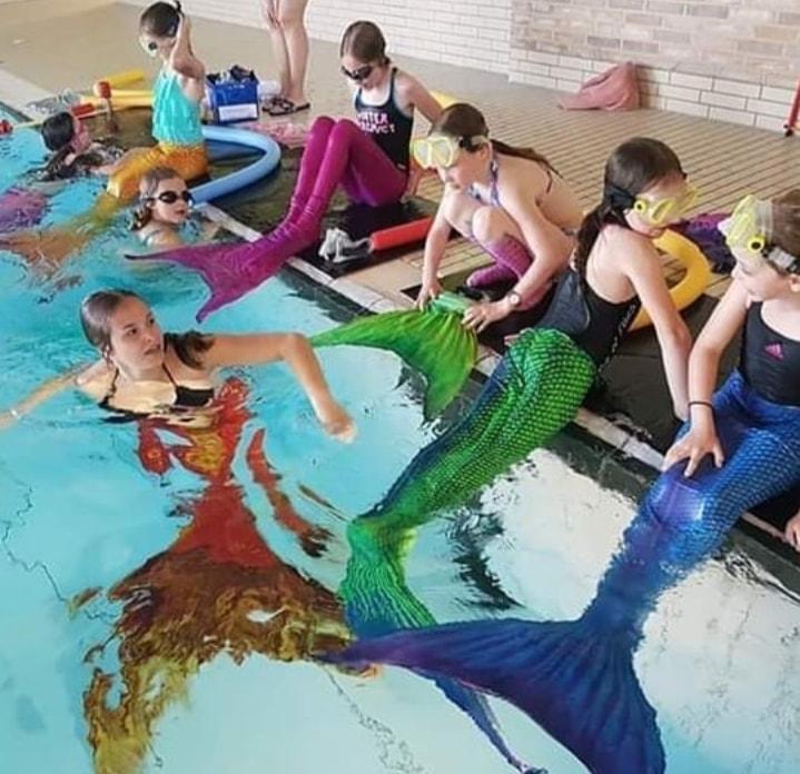 Meerjungfrauen Schnupperkurs im Badepark Bentheim