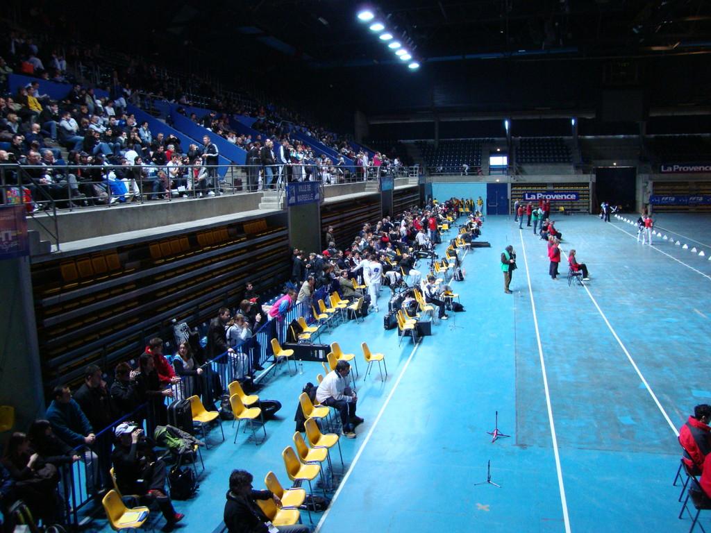 Un public enthousiaste pour encourager les sportifs