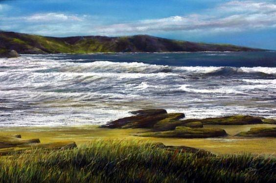 Tan sólo el mar. Técnica: Pastel. 65 x 43. Enmarcada. 700 €. Envío gratis.