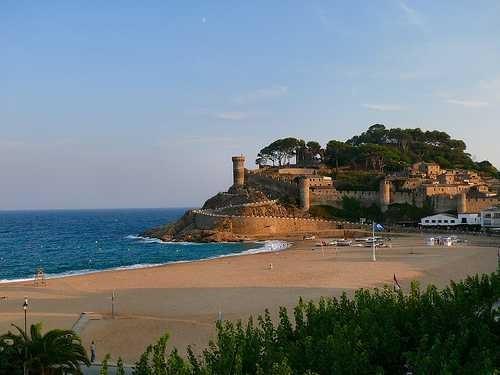 O castelo de Tossa de Mar