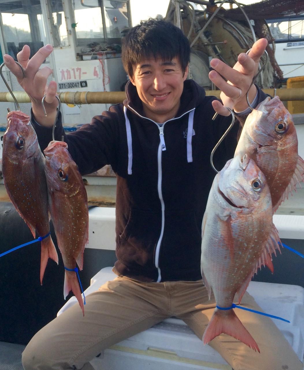 初タイラバで4Fish!