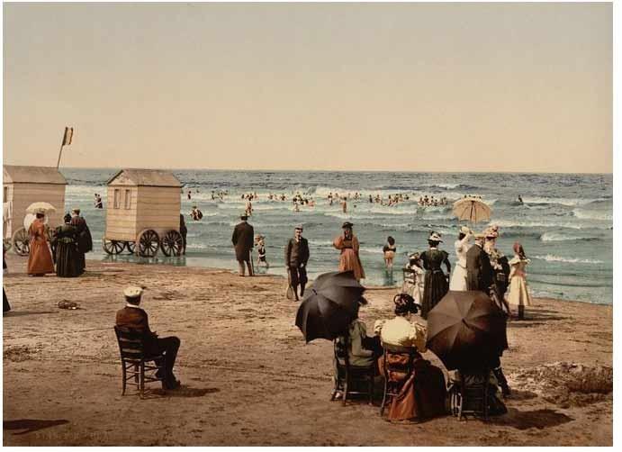 Bild: Cabines de bain a Biarritz 1922
