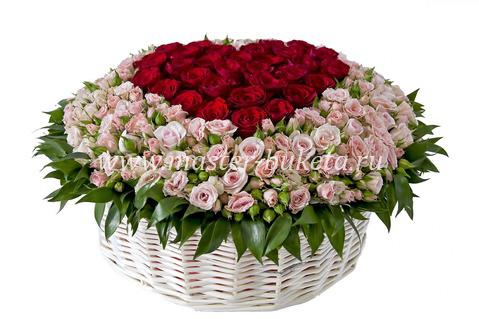 9-705 (70 кустовых роз + 25 роз)