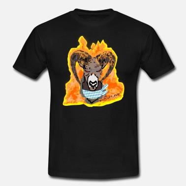 Männer T-Shirt Mufflon in Flammen