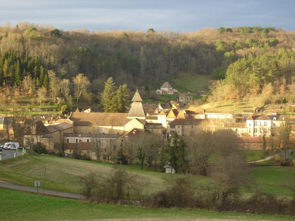 Vista desde el sur en Cadouin