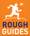 Logo of Rough Guides, referred to in the guide Dordogne and Lot