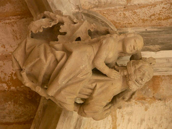 Detalle en el claustro de Cadouin