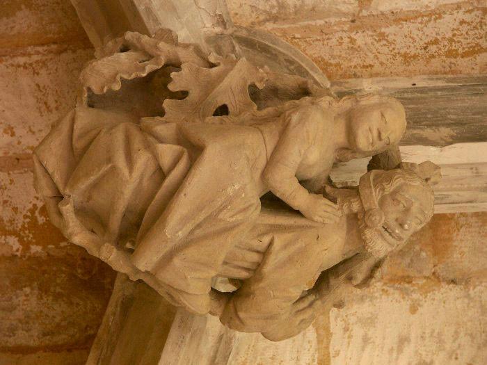 Detail in de kloostertuin van Cadouin