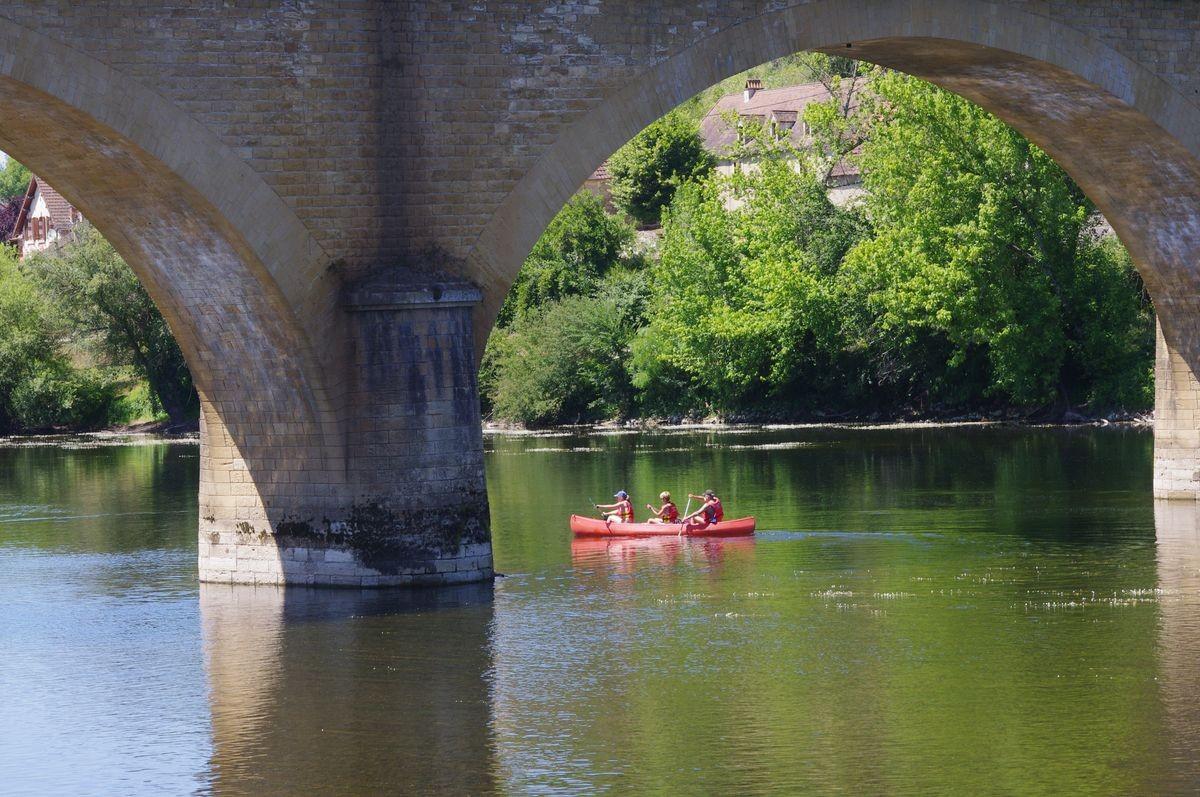 De Dordogne bij Le Buisson de Cadouin