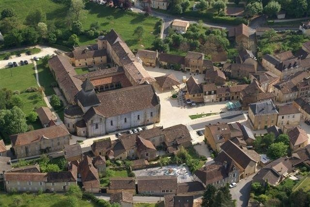 Aerial view of Cadouin