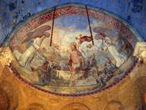 Fresco in de abdij van Cadouin