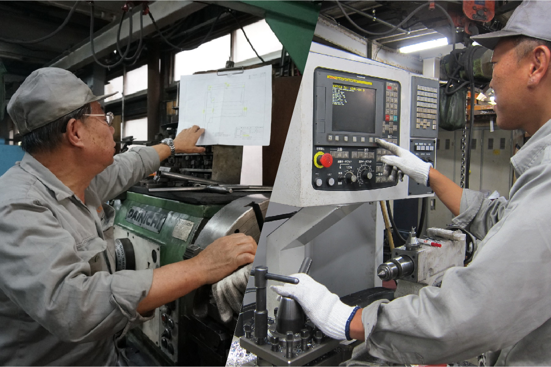 粗引き加工から仕上げ加工まで一貫生産体制*不良率0.001%、お客様からのクレーム0 継続中