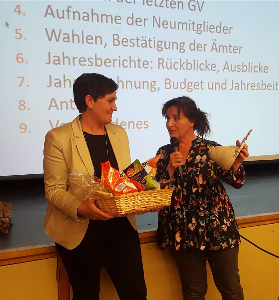 99. GV Verabschiedung von Paula Gössi und Susanne Graf