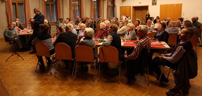 Seniorenchlaus, begeisterte Zuhörer