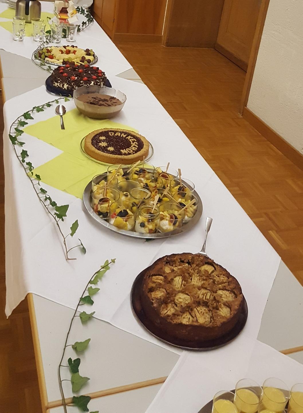 Helferessen - Dessertbuffet