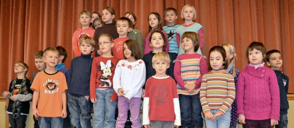 Und den Kindern der Kasse 1a und 1b der Primarschule