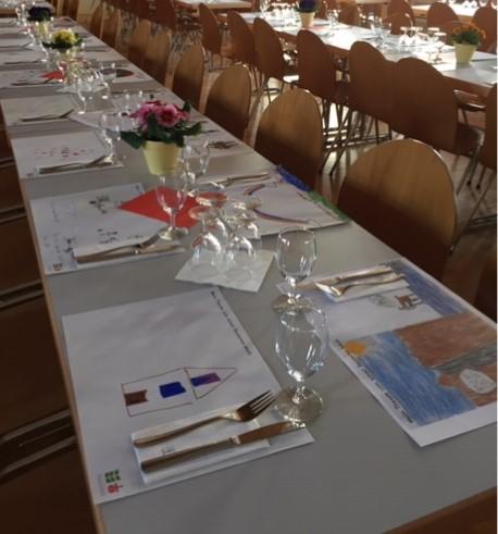 Spaghettiessen - Tischsets: Mein Traum von einer besseren Welt