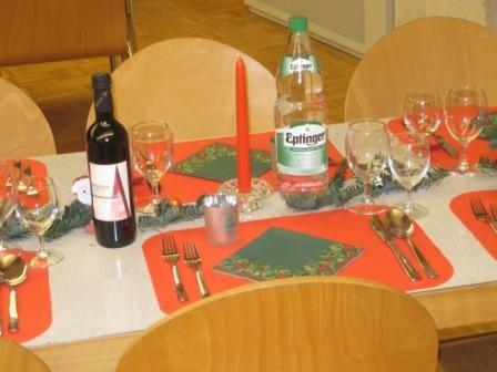 Seniorenchlaus Tischdeko