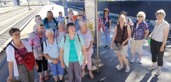 Vereinsreise Abfahrt Bahnhof Brunnen