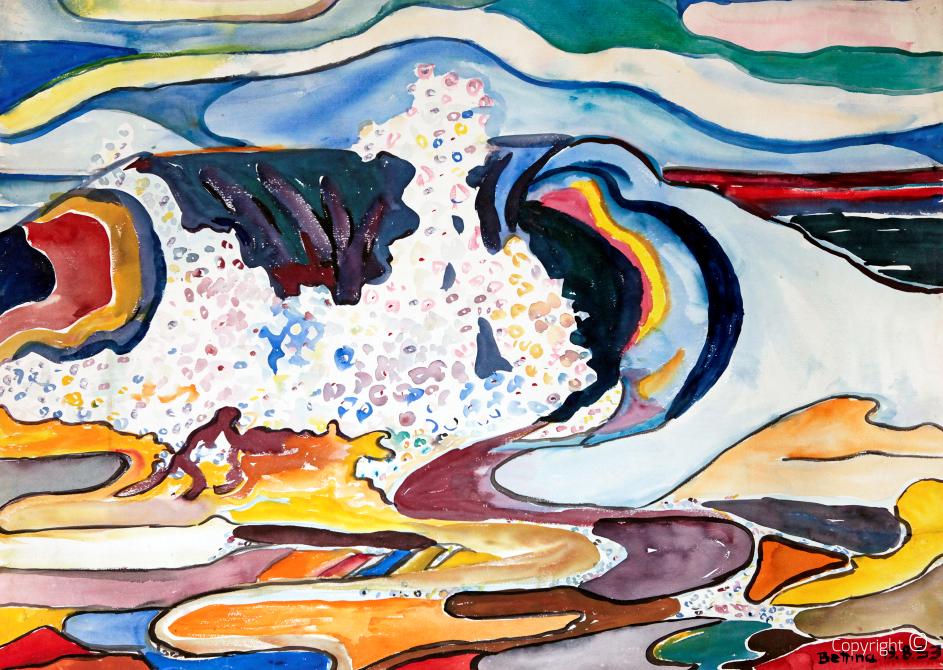 Sylt, la vague, 1953