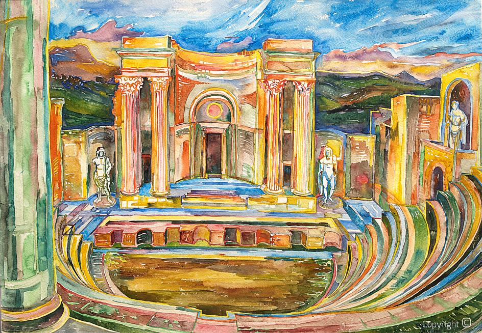 Roman theater in Guelma, 1963
