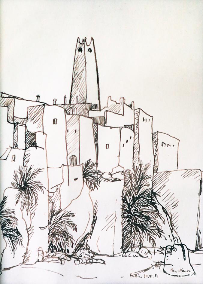 Wüstenstadt Bou Nouara, 1976