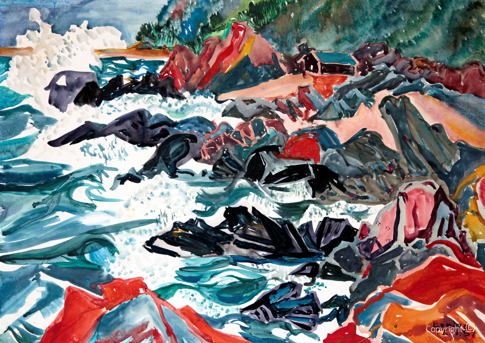 Mer agitée en Scandinavie, 1954