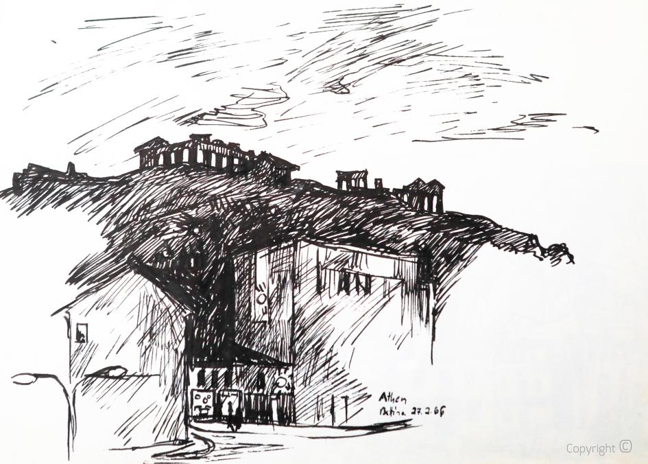 Die Akropolis von Athen, 1966