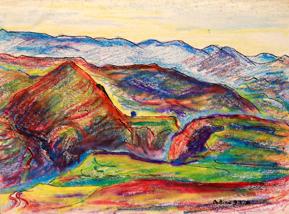 Panorama dans les montagnes Medjerda, 2001