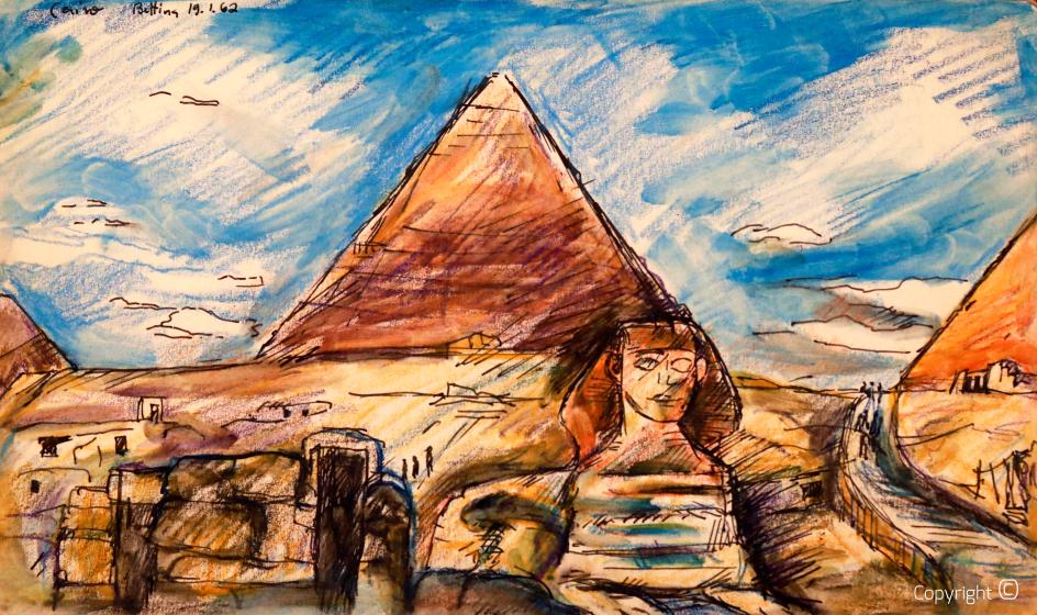 Pyramides de Gizeh, 1962