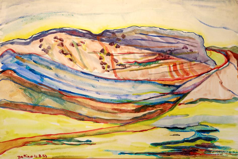 Landscape impression in Austria, 1953