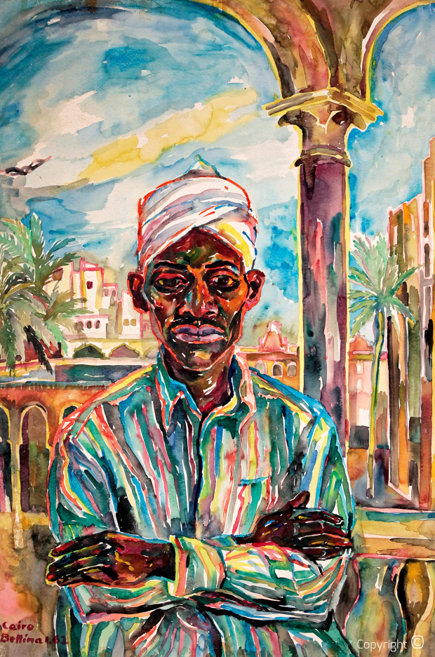 Portraits of an Egyptian in Cairo, 1962