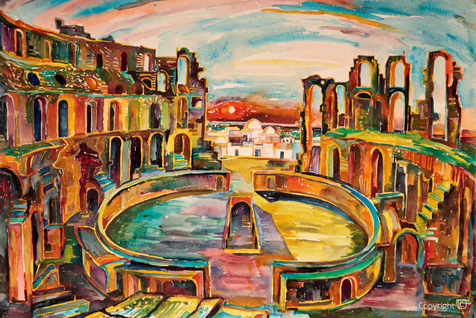 Das Amphitheater von El Djem, 1967
