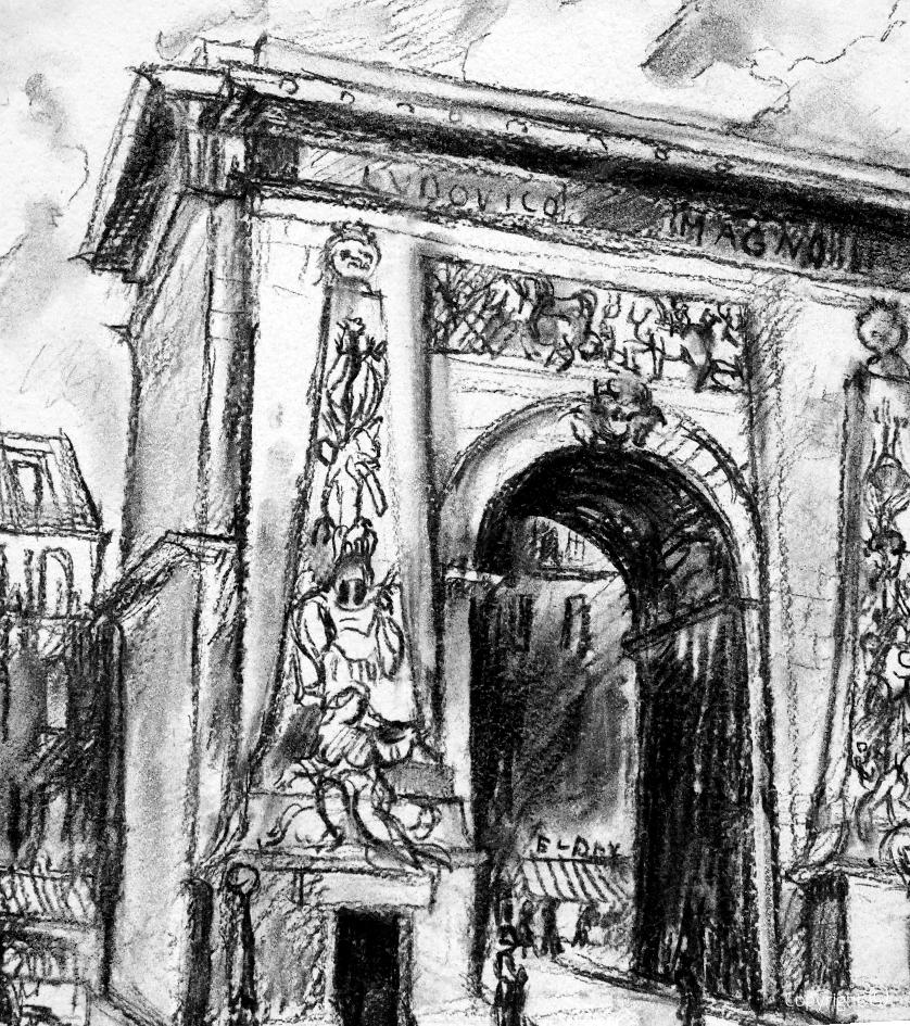 Porte de Saint Denis à Paris, 1967