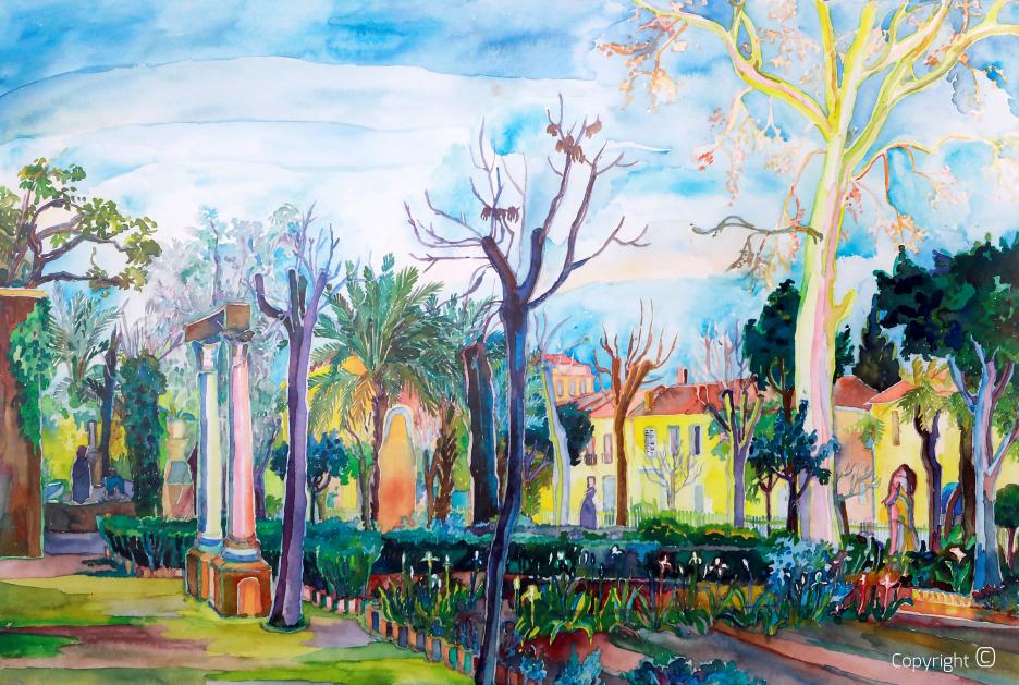 Le jardin romain de Guelma, 1968