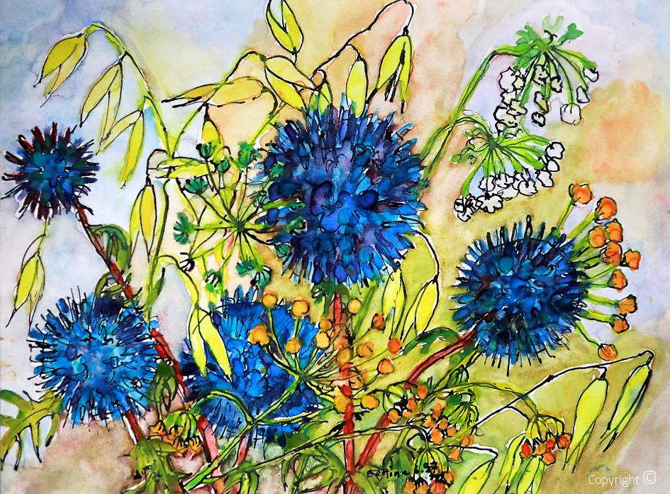 Blue thistles, 1997