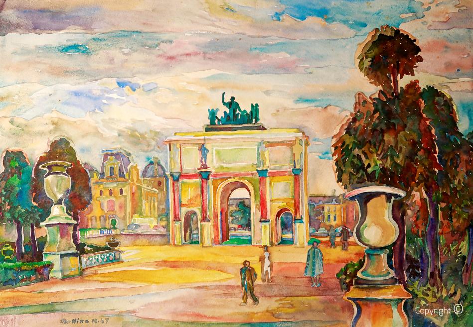 L' arc du Carussel au Louvre, 1957