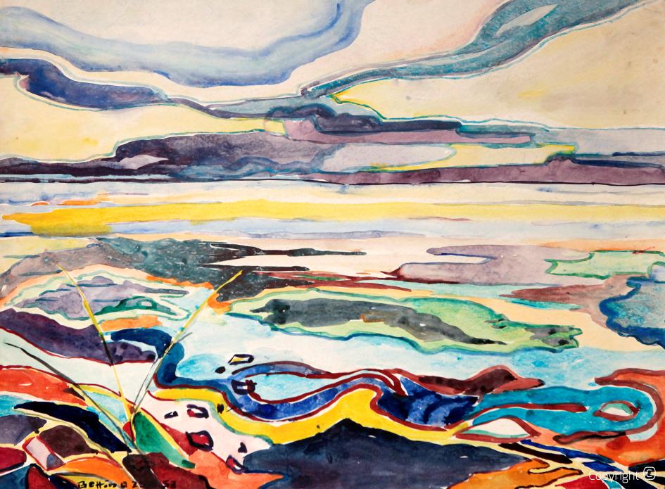 Impressions de la mer sur Sylt, 1953