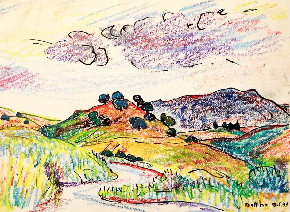 Chemin d'accès au Djebel Debagh près de Guelma, 1991
