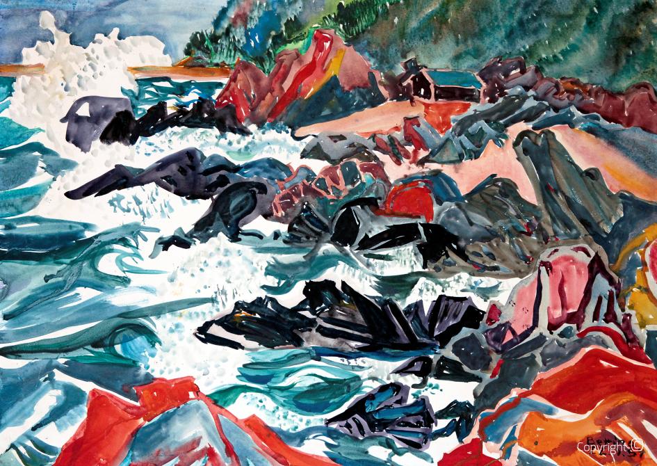 Stormy seas in Scandinavia, 1954