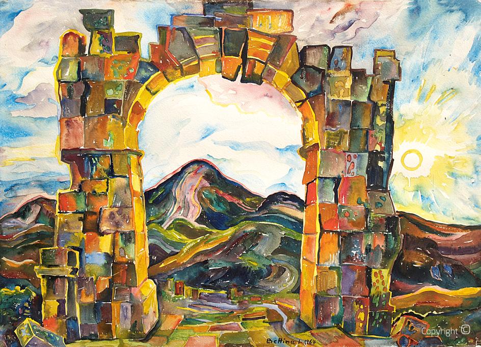 Roman arch in Announa, 1965